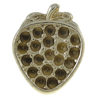 Zinc Alloy Beads Setting, Strawberry, real gold plated, high quality plating and never fade, nickel, lead & cadmium free, 13.5x17x8mm, Hole:Approx 4.5mm, Sold By PC