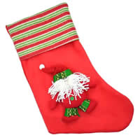 Christmas Sock, Velveteen, red, 260x420mm, Sold By PC
