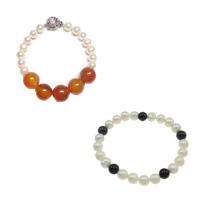 Agate Pearl Bracelets