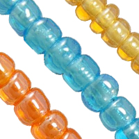 Transparent Lustered Glass seed Beads
