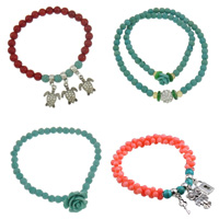 Turquoise Coral Bracelets