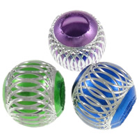 Aluminum Beads, Drum, painted, carved, more colors for choice, nickel, lead & cadmium free, Sold By Bag