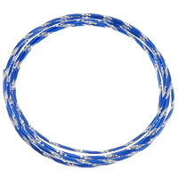 Aluminum Wire, electrophoresis, flower cut, more colors for choice, nickel, lead & cadmium free, 2mm, 1.5m/Bag, Sold By Bag