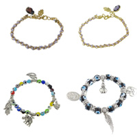 Zinc Alloy Lampwork Bracelets