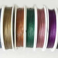 Tiger Tail Wire, with Plastic, plated, with rubber covered & 7-yarn & steel diameter: 0.35mm, more colors for choice, 0.5mm, Length:100 m, Sold By PC