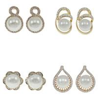 Glass Pearl Stud Earring