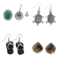Gemstone Earring