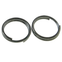 Iron Split Ring, Donut, plumbum black color plated, lead & cadmium free, 7x1mm, Hole:Approx 6mm, Approx 11110PCs/KG, Sold By KG