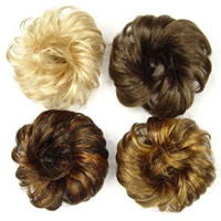 Hair Bun Wigs, Fiber, mixed colors, 10-20cm, Sold By PC