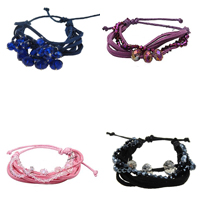 Crystal Wool Cord Bracelets