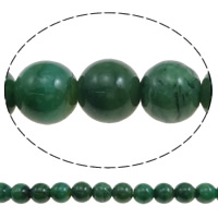 Natural African Turquoise Beads, Round, different size for choice, green, Hole:Approx 1mm, Length:Approx 15.7 Inch, Sold By Strand
