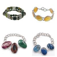 Agate Brass Bracelets