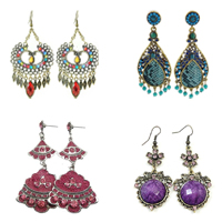 Zinc Alloy Rhinestone Dangle Earring