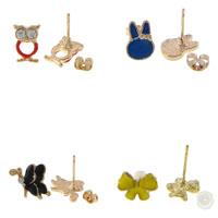 Enamel Zinc Alloy Stud Earring