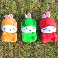 Plush Hanging Decoration, Rabbit, with sucker, mixed colors, 240mm, 50PCs/Lot, Sold By Lot
