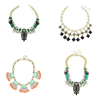 Resin Zinc Alloy Necklace