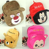 Velveteen Backpack, for children & mixed, 350x300mm, 30PCs/Lot, Sold By Lot