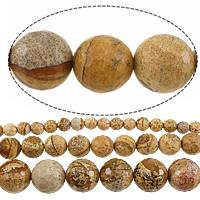 Picture Jasper Beads, Round, different size for choice & faceted, Length:Approx 15 Inch, Sold By Strand
