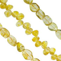Natural Lemon Quartz Beads