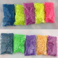 Loom Bands, Rubber, with Plastic, synthetic, with plastic S clip & for children, mixed colors, 2mm,16mm, 600PCs/Bag, Sold By Bag