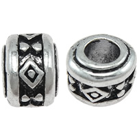 Zinc Alloy European Beads, Drum, plated, without troll, more colors for choice, nickel, lead & cadmium free, 7x9x9mm, Hole:Approx 4.5mm, Sold By PC