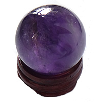 Natural Quartz Decoration, Amethyst, with Wood, Round, different size for choice, Sold By PC