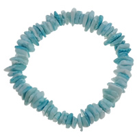 Shell Bracelets, blue, 8x11x3mm, Sold Per Approx 7.5 Inch Strand