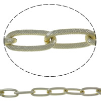 Aluminum Oval Chain, plated, more colors for choice, nickel, lead & cadmium free, 15.5x34.5x4mm, Sold By m