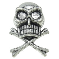 Zinc Alloy Rivet, Skull, plated, more colors for choice, 17x24x8mm, Approx 380PCs/KG, Sold By KG