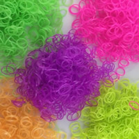 Loom Bands, Rubber, luminated, mixed colors, 1mm, Approx 14000PCs/KG, Sold By KG
