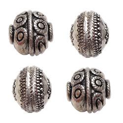 Filigree Zinc Alloy Beads