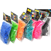 Loom Bands, Rubber, with Plastic, mixed colors, 18x2mm, 600PCs/Bag, Sold By Bag