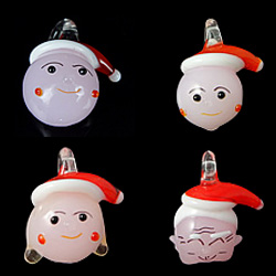 Christmas Lampwork Pendants