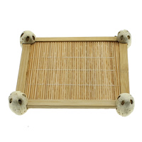 Bamboo Bracelet Display, Square, 100x100x22mm, Sold By PC