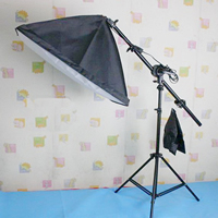 Photography Light Kit, Aluminum, softbox & light stand, with Lylon, stoving varnish, nickel, lead & cadmium free, 500x700mm, Sold By Set