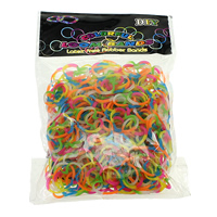 Loom Bands, Rubber, Heart, different packing style for choice & for children, multi-colored, 1.5mm, Sold By Bag
