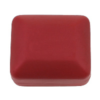 Plastic Ring Box, with Velveteen, Rectangle, stoving varnish, red, 62x53x38mm, Sold By PC