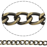Aluminum Curb Chain, antique bronze color plated, brushed, nickel, lead & cadmium free, 12x17x3mm, Sold By m
