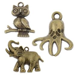 Zinc Alloy Animal Pendants
