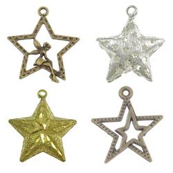 Zinc Alloy Star Pendants