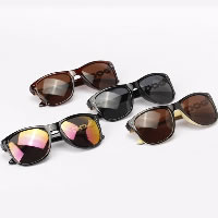 Plastic Sunglasses, with PC plastic lens & Zinc Alloy, plated, more colors for choice, 140x50mm, 140mm, Sold By PC
