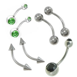 Stainless Steel Curved Barbell