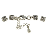 925 Sterling Silver Bracelet Findings, with 1.5lnch extender chain, plated, without troll, more colors for choice, 34x6mm, 10x6mm, 11x7x3mm, 5.5x6mm, Hole:Approx 4mm, Sold By Set