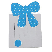 Cardboard Necklace & Bracelet Display Card, Bowknot, with round spot pattern, white, 54x79x0.5mm, Hole:Approx 5mm, 8x18mm, Sold By PC