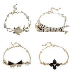 Brass Chain Zinc Alloy Charm Bracelets