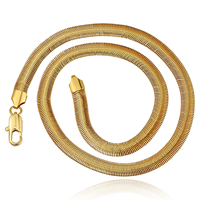 comeon® Jewelry Necklace, Zinc Alloy, real gold plated, herringbone chain, 10mm, Length:Approx 19 Inch, Sold By Strand