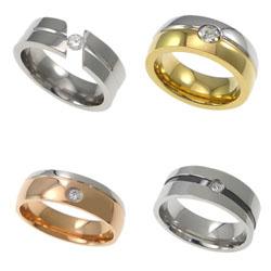Rhinestone Stainless Steel Finger Ring