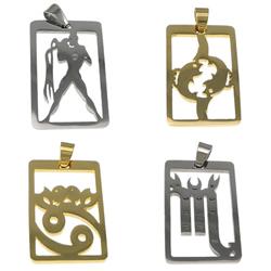 Stainless Steel Zodiac Pendant