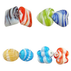 Plated Lampwork Beads