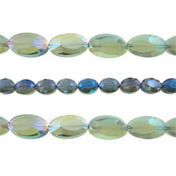 Imitation CRYSTALLIZED™ Oval Beads